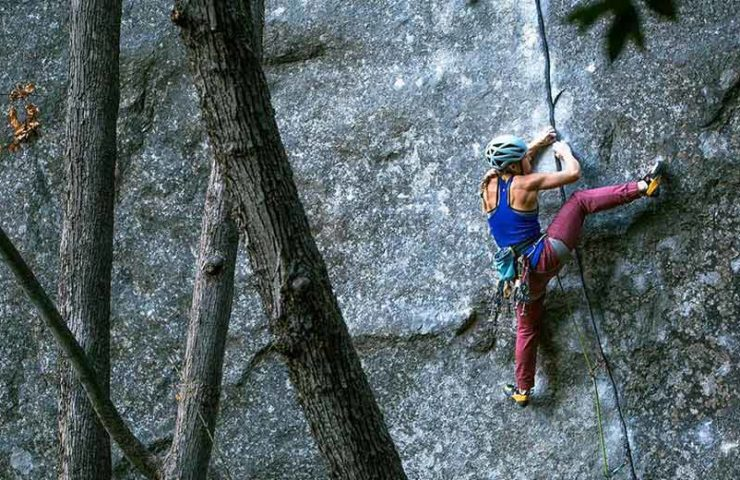 Hazel Findlay climbs with Magic Line one of the hardest crack routes in the world