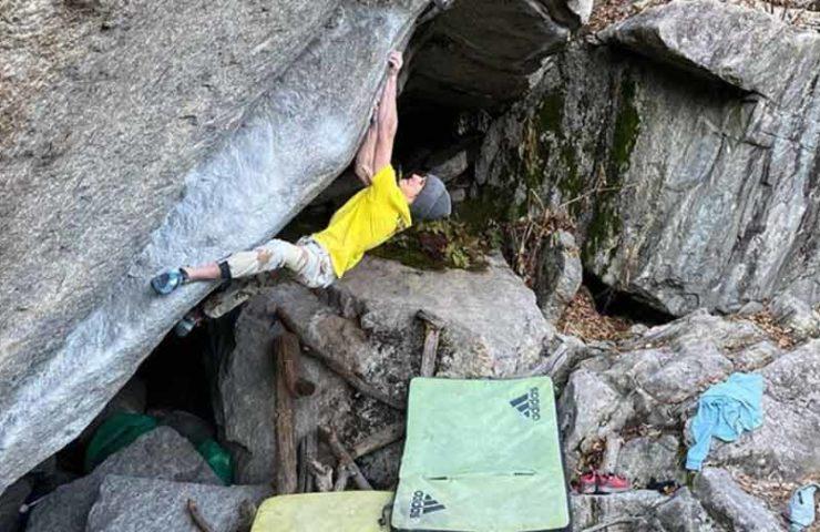 Vadim Timonov in Schweizer Bouldergebieten: Er kam, sah und kletterte
