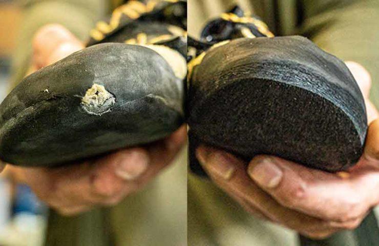 Zapatos de escalada de suela nueva con resolución gecko