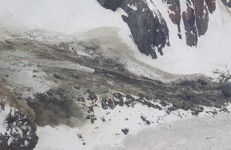 Erneuter Fels- und Gletscherabbruch am Sustenhorn