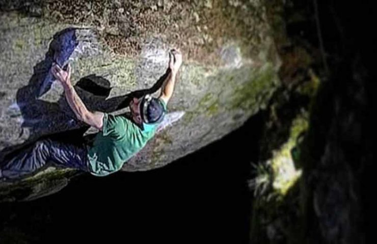 Giani Clement successfully climbs Last Night on Earth