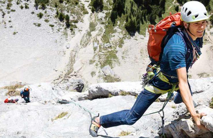 Federleichter Alpinrucksack für Mehrseillängentouren