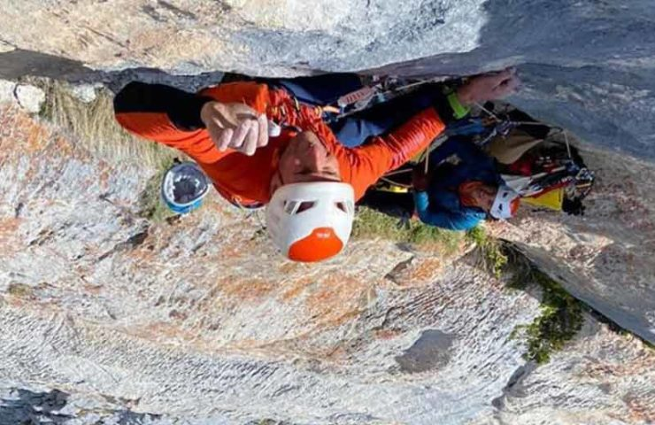 Cédric Lachat klettert Rätikon-Perle Wogü (8c, 9 SL) rotpunkt