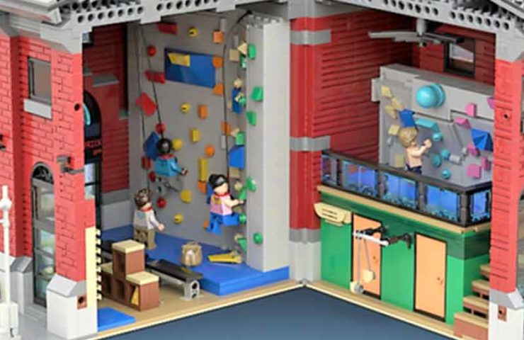 This climbing hall is built entirely from Lego blocks