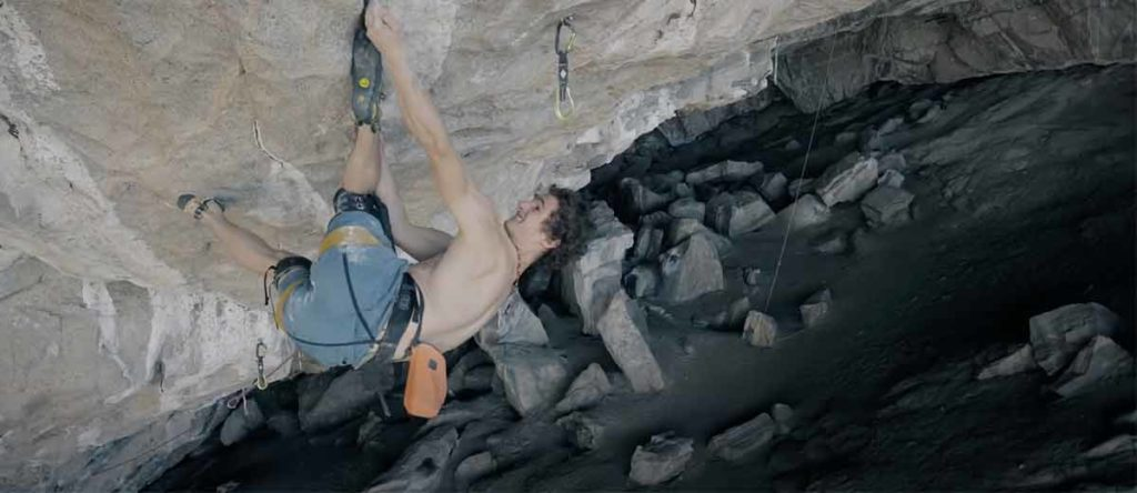 Visualization was central to Adam Ondra's ascent from Silence (9c). (Photo AO Productions)