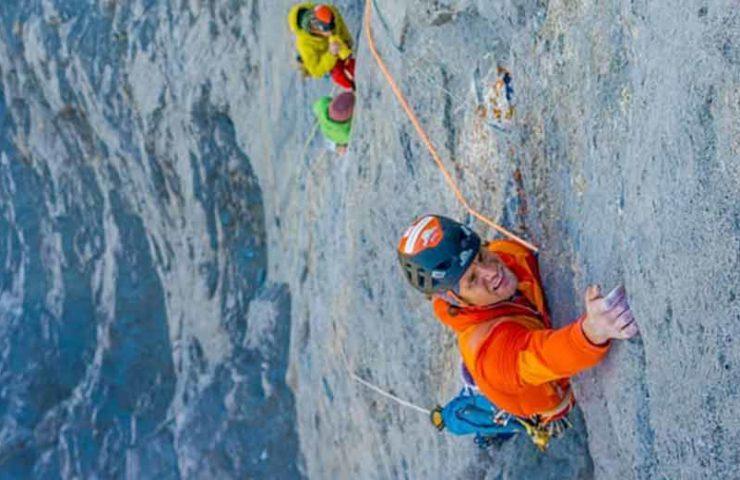 Roger Schäli klettert Route Merci la Vie am Eiger rotpunkt