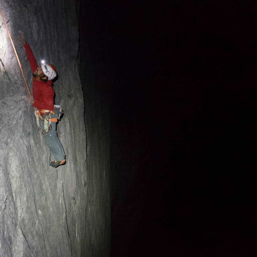 Started the route early: Nico Favresse and Sébastien Berthe. (Photo by Sébastien Berthe)