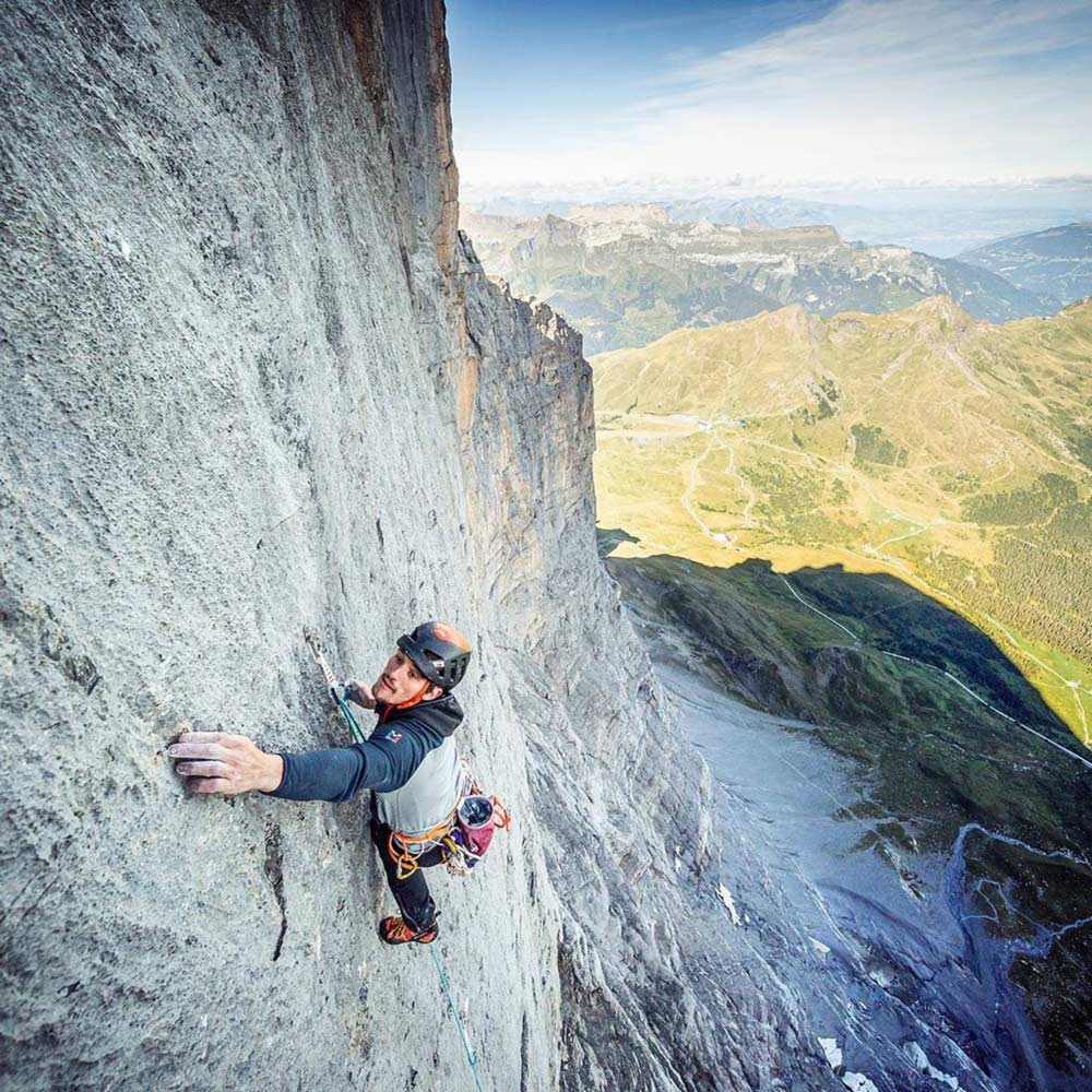 Nils Favre - Kletterroute Paciencia - Eiger Nordwand. Bild Damien Largeron.
