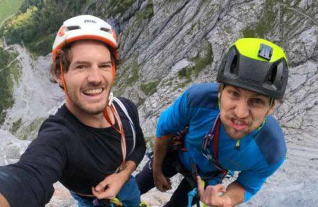 Martin Sieberer and Hannes Hohenwarter climb the Tiroler Riss Trilogy