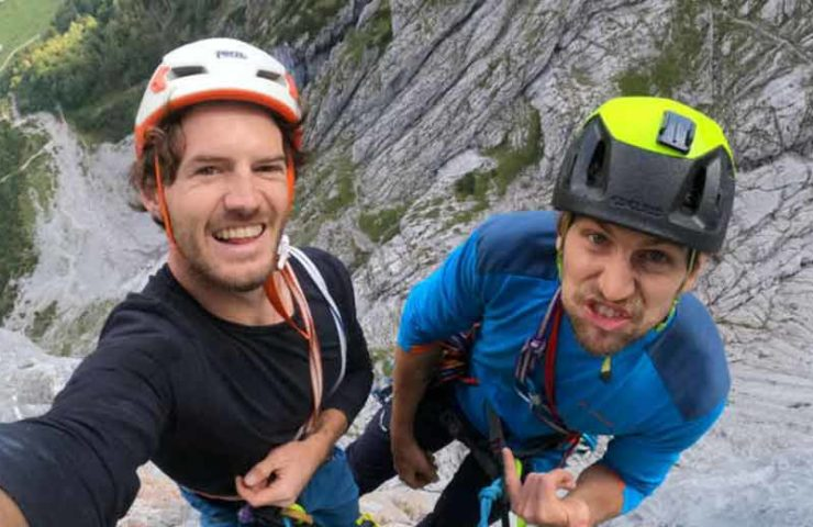 Martin Sieberer and Hannes Hohenwarter climb the Tiroler Riss Trilogy