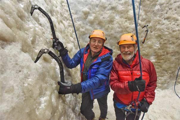 Doug Scott (left) and Chris Bonington. (Image British Mountaineering Council)