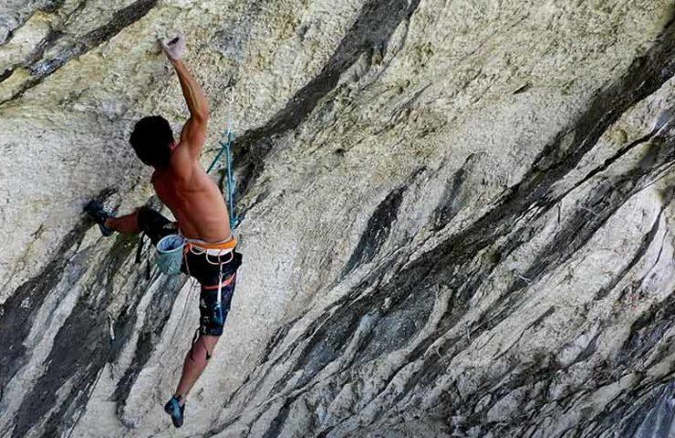 Was für eine abgefahrene Route: Hugo Parmentier in La Rage d'Adam (9b/+)