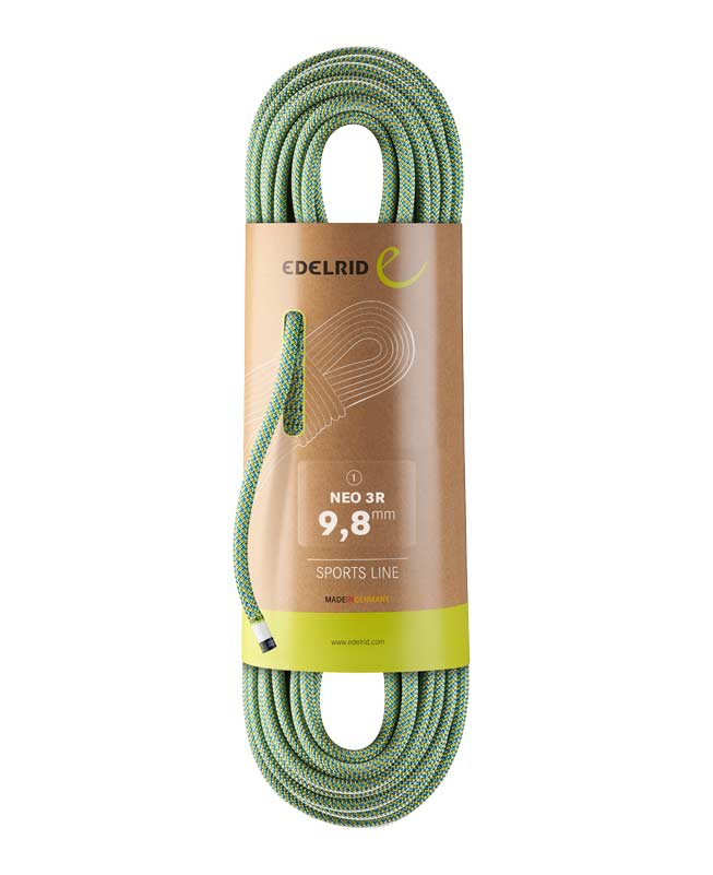 Edelrid NEO 3R: climbing rope made from recycled material.
