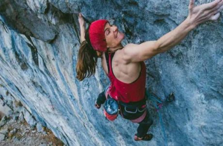 Babsi Zangerl climbs 9a again with explosives
