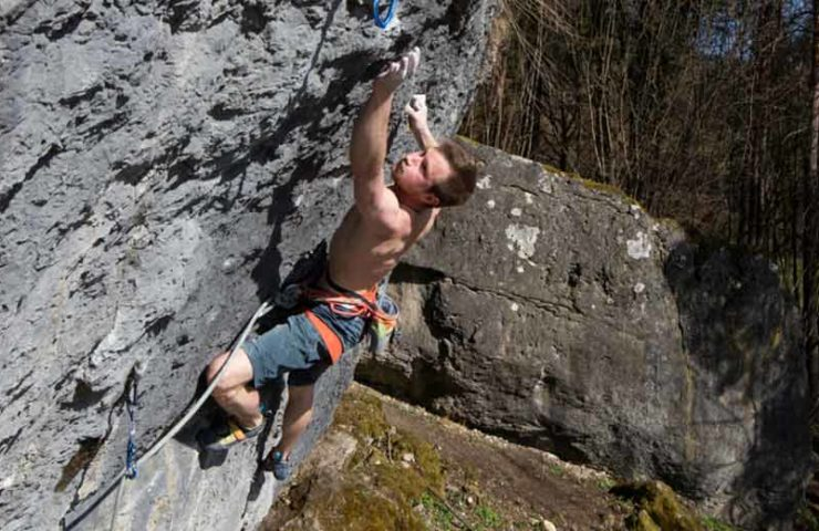 First ascent in the Frankenjura: Maximiliam Karrer climbs the lactate storm (8c +)