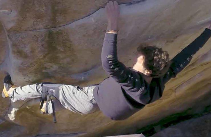 Nico Pelorson wertet 9a-Boulder Soudain Seul ab
