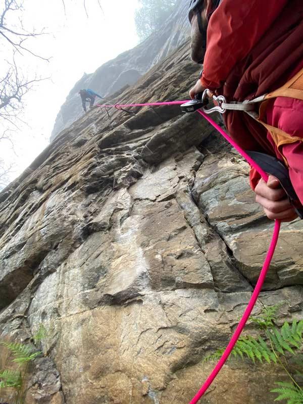Das 8.9 Rope Dry Kletterseil im Einsatz beim Klettern