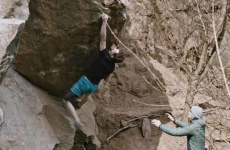 Adam Ondra can hardly hold this grip