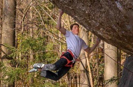 Philipp Gassner climbs Action Directe (9a) - video