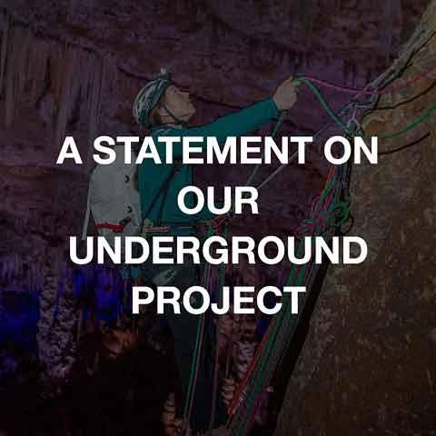 Statement from Caroline Ciavaldini and James Pearson regarding the Underground Project.