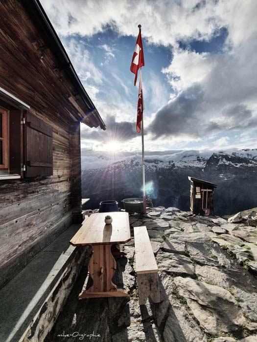 Bietschhornhütte des AACB (Bild Lötschental Marketing AG)
