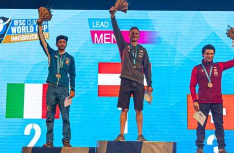 Lead-Weltcup Innsbruck: Jakob Schubert holt Heimsieg, Sascha Lehmann wird Dritter