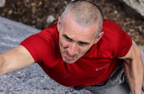 52-year-old Alfredo Webber climbs the 9a route Pure Dreaming