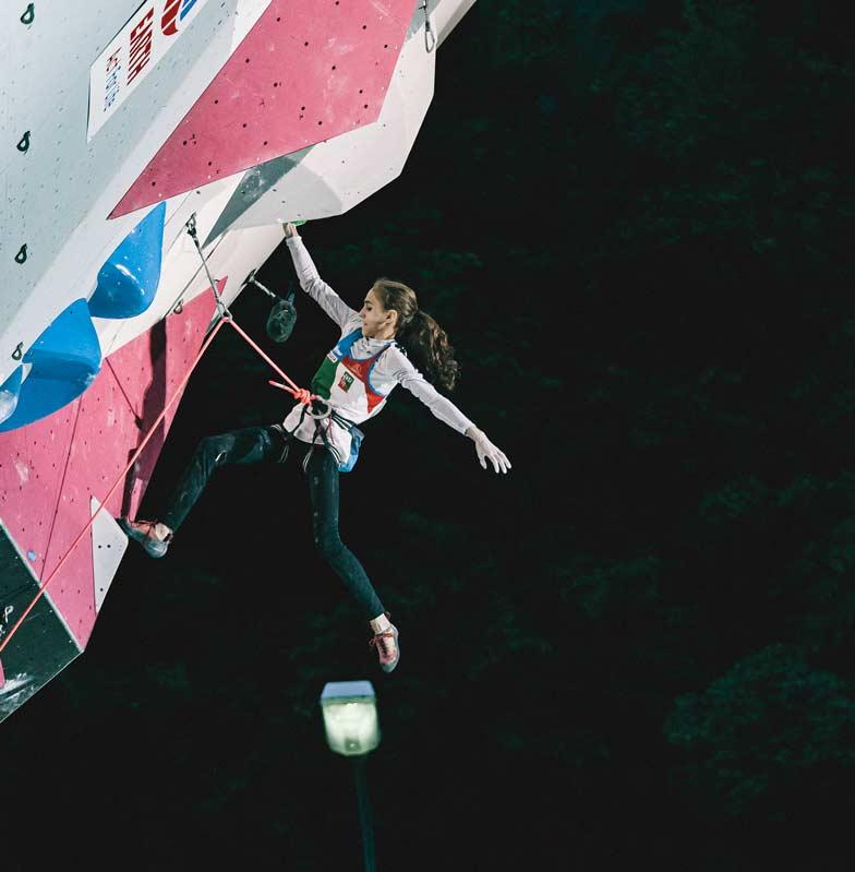 Laura Rogora machte Janja Garnbret das Leben schwer. (Bild Lena Drapella/IFSC)