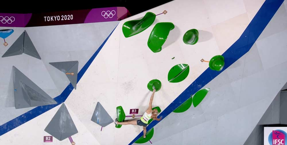 Only this boulder was too difficult for Janja Garnbret to be topped. (Image ARD)