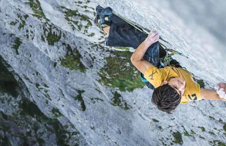 Lukas Sager (16) scores demanding multi-pitch route Yeah Man (8b +, 300m)