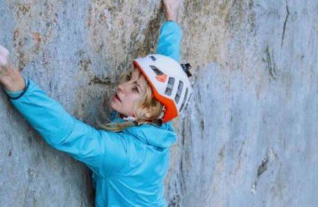 Matilda Söderlund punktet schwierigste Route des Alpsteins: Parzival (8b, 150m)