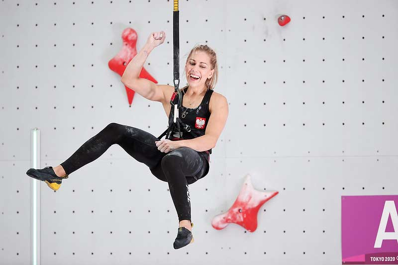 Aleksandra Miroslaw landed in 4th place thanks to her speed result (Image Dimitris Tosidis / IFSC)