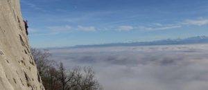 Die besten Klettergebiete über dem Nebel