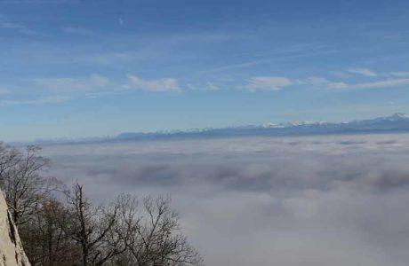 Las mejores zonas de escalada por encima de la niebla.