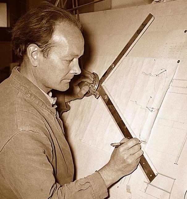 Fernand Petzl in seiner Werkstatt.