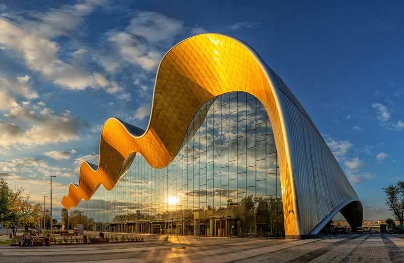 Der Irina Viner-Usmanova Gymnastics Palace im Olympiakomplex Luzhniki, Moskau.