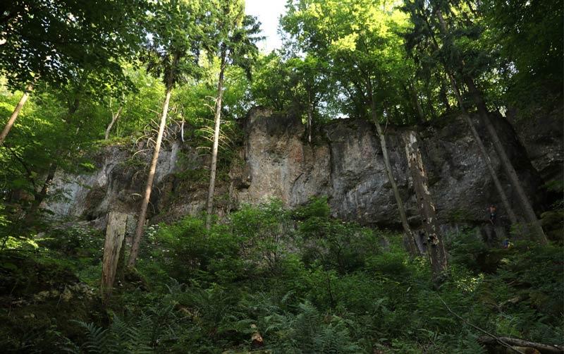 The Schlaraffenland climbing area in the Franconian Jura. (Image frankenjura.com)
