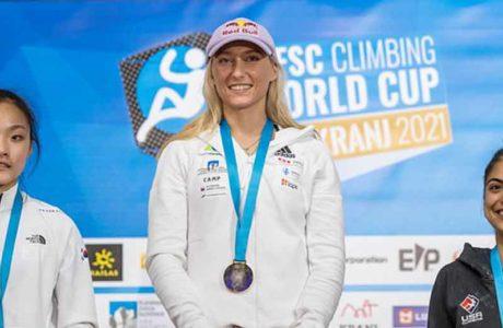 Weltcup in Kranj: Janja Garnbret schreibt Geschichte, Sascha Lehmann rutscht ab