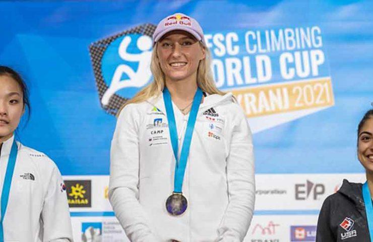 Mundial de Kranj: Janja Garnbret hace historia, Sascha Lehmann resbala