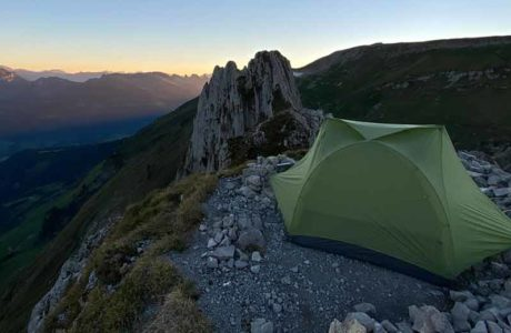 The most spectacular «campsite» | Test Sea to Summit Telos TR2